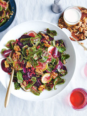 fig and beetroot salad with goat's cheese dressing