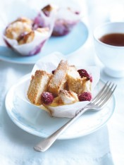 raspberry and ricotta french toast muffins