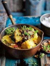 fresh turmeric coconut fish curry