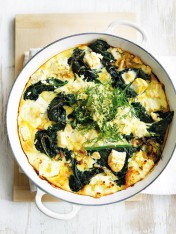 frittata with cavolo nero and dill