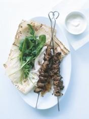 garlic and mustard beef skewers