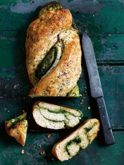 garlic, sage and blue cheese twisted loaf