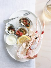 ginger scampi with wasabi mayonnaise