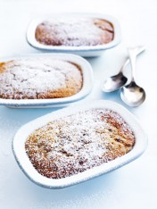 ginger, maple and pecan self-saucing puddings