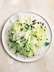 green peppercorn and apple summer slaw
