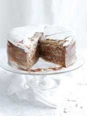 hazelnut mocha mousse cake
