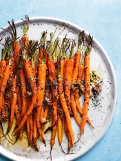 roasted carrots with honey, fig and mustard butter