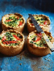 hot smoked trout and broccoli quiches