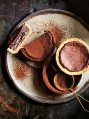 individual earl grey chocolate chess pies
