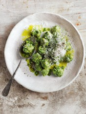 gnocchi with kale, fennel and smoked-almond pesto