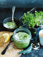 kale and watercress pesto