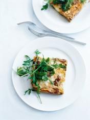 leek, ricotta and mushroom frittata