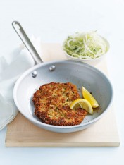 lemon and chive chicken schnitzel