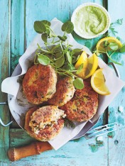 white bean, dill and cauliflower fish cakes