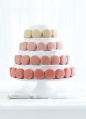 macaron and vanilla layer cake