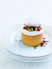 mini rosewater sponge cakes