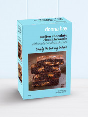 baking mix - molten chocolate chunk brownie