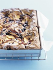 nectarine and blueberry slice