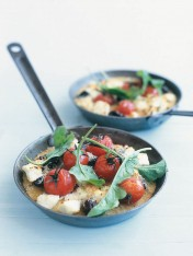 olive, ricotta and polenta bake