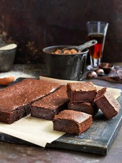 Chocolate brownies with extra virgin olive oil