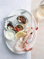 oysters with black vinegar and tomato