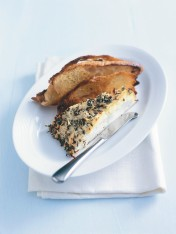 parmesan and thyme baked ricotta