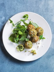 pea, mint and ricotta falafels