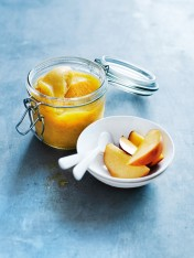 peach and vanilla sorbet