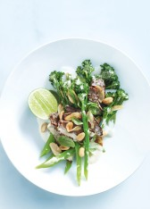 peanut beef and basil stir-fry