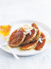 peanut butter, oat and banana pancakes