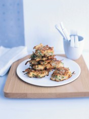 pear and blue cheese fritters