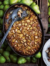 pear and gingerbread cobbler