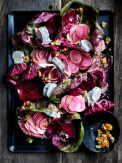 pickled beetroot, radicchio and goat's cheese salad