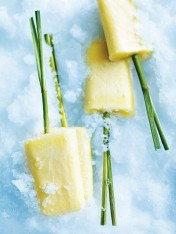 pineapple, coconut and lemongrass popsicles