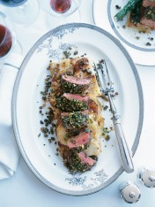 pistachio and lemon-crusted lamb