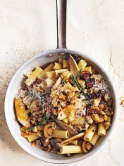 porcini and tarragon rigatoni