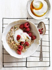 power seed bircher with maple vanilla yoghurt