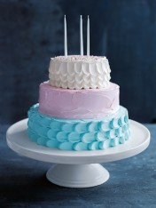 pretty pastel chocolate cake