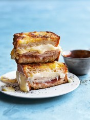 quince, brie and turkey toastie