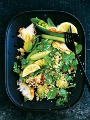 quinoa and haloumi spring salad