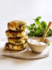 quinoa, chicken and kale fritters