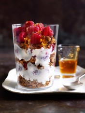 raspberry rosewater breakfast parfait