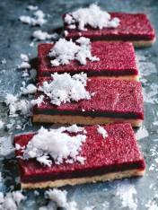 raw cherry coconut slice