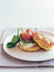 ricotta, chive and prosciutto omelettes