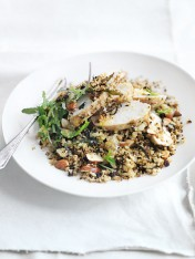 roasted cauliflower couscous and chicken salad
