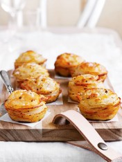 roasted potato stacks with pecorino and marjoram