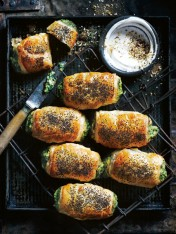silverbeet and ricotta rolls