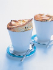 simple passionfruit souffles