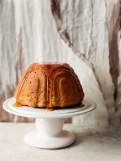 spiced pear butterscotch pudding