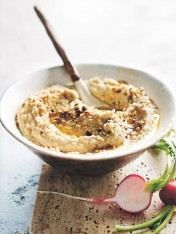 spiced almond hummus